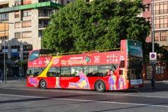 Stad Sightseeingsbus in Santa Cruz de Tenerife, Canarische Eilanden, Spanje Royalty-vrije Stock Afbeelding