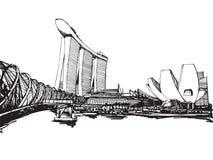 stad singapore royaltyfri illustrationer