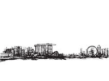 stad singapore stock illustrationer