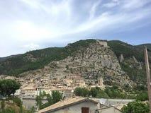 Stad som är medeltida av Entrevaux Royaltyfria Foton