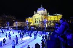 Stad som åker skridskor isbanan Royaltyfri Foto
