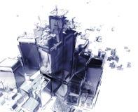 stad som exploderar Arkivfoto