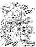 stad som jag älskar stock illustrationer