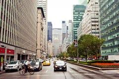 Stad streetlife op de Weg van het Park in New York Stock Fotografie