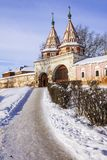 Stad Suzdal in de winter, Rusland Royalty-vrije Stock Foto's