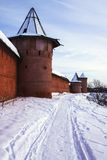 Stad Suzdal in de winter Rusland Stock Foto