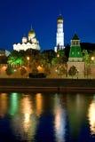 stad täta kremlin moscow upp Royaltyfri Bild