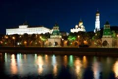stad täta kremlin moscow upp Arkivbild