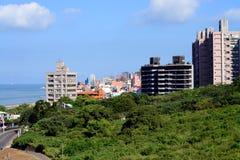 Stad Taiwan van Taipeh van het Tamsuidistrict de nieuwe stock afbeelding