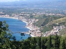 Stad Taormina van Sicilië stock afbeeldingen