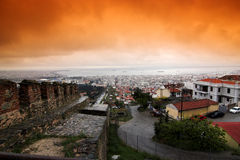 stad thessaloniki arkivfoto