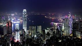 Stad Timelapse. Hong Kong. Brett zooma sköt in. arkivfilmer