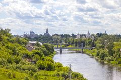 Stad Torzhok Cityscape royalty-vrije stock fotografie