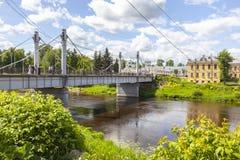 Stad Torzhok Cityscape stock foto