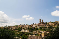 Stad in Toscanië Stock Fotografie