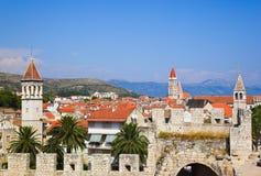 Stad Trogir in Kroatië stock foto's
