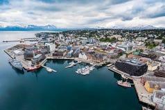 Stad Tromso, Norge Royaltyfria Bilder