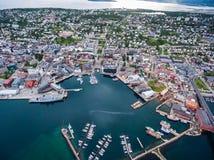 Stad Tromso, Norge Royaltyfria Foton