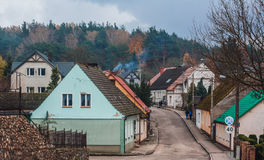 Stad Tuczno i Polen Royaltyfria Bilder