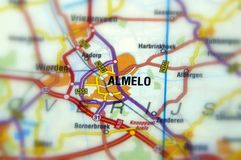 Stad van Almelo - Nederland royalty-vrije stock fotografie
