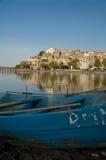 Stad van Anguillara Stock Afbeeldingen