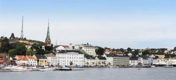 Stad van Arendal Noorwegen Stock Afbeeldingen