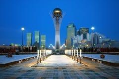 Stad van Astana - de hoofdstad van Kazachstan Royalty-vrije Stock Foto's
