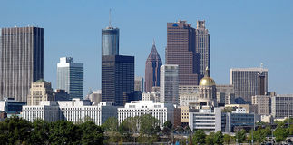 Stad van Atlanta Georgië Stock Fotografie