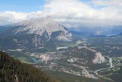 Stad van Banff, Canada, van de Berg van de Zwavel Stock Foto's
