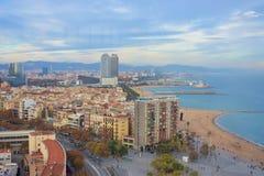 Stad van Barcelona - Spanje - Europa royalty-vrije stock foto's