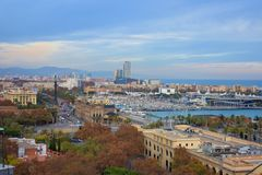 Stad van Barcelona - Spanje - Europa stock afbeelding