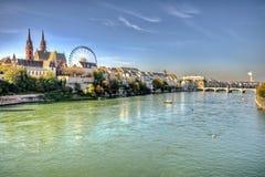 Stad van Bazel stock afbeeldingen