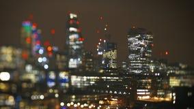Stad van van Bedrijfs Londen districtsmening van bovengenoemde helikoptermening stock footage