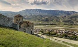 Stad van Berati, Albanië Stock Foto's