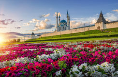 Stad van bloemen Kazan Stock Afbeeldingen