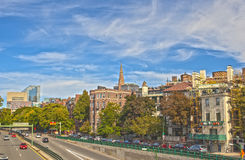 Stad van Boston, doctorandus in de letteren, de Verenigde Staten van Amerika Beeld HDR royalty-vrije stock afbeelding