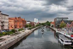 Stad van Bydgoszcz in Polen Stock Afbeelding