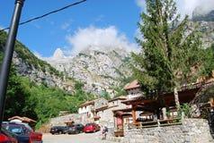 Stad van CaÃn asturias stock foto