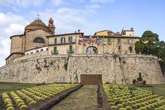 Stad van Castiglione del Lago in Umbrië, Italië Stock Foto's
