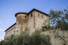 Stad van Castiglione del Lago in Umbrië, Italië Royalty-vrije Stock Foto's