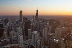 Stad van Chicago. Stock Afbeeldingen