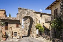 Stad van Chiusi in Toscanië, Italië royalty-vrije stock afbeeldingen