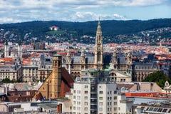 Stad van Cityscape van Wenen Royalty-vrije Stock Foto