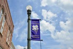 Stad van Covington Tennessee Street Banner royalty-vrije stock afbeeldingen