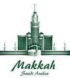 Stad van de Beroemde Gebouwen van Makkah Saudi-Arabië royalty-vrije illustratie