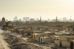 Stad van de dode krottenwijk in Kaïro Egypte royalty-vrije stock foto's
