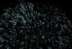 Stad van de hologram de futuristische interface Royalty-vrije Stock Foto's