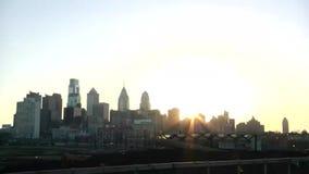 Stad van de Horizon van Philadelphia stock video