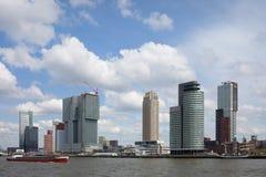 Stad van de Horizon van Rotterdam Stock Fotografie