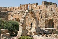 Stad van de koning David, Jeruzalem, Israël Stock Afbeeldingen
